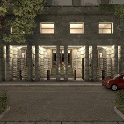 Ingresso e parti comuni Palazzo Bertoni